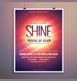 shine club music party flyer template with vector image vector image