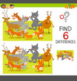 spot the differences game vector image vector image