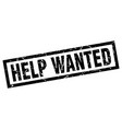 square grunge black help wanted stamp vector image vector image