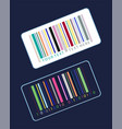 stickers with colorful bar code vector image vector image