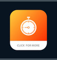 stopwatch clock fast quick time timer watch vector image vector image