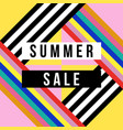summer season sale sign for business discount vector image vector image