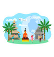 travelers in asia indonesia bali sightseeing vector image vector image