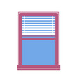 window half-closed jalousie vector image vector image