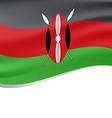 Waving flag of Kenya isolated on white vector image