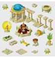 Ancient decoration buildings tiles sculptures vector image