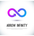 Arrow infinity business logo vector image