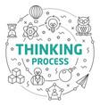 line flat circle thinking process vector image