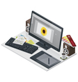 visual artist workplace vector image