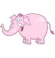 Happy Pink Elephant vector image