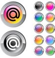 At multicolor round button vector image