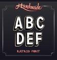 Retro Vintage Label Alphabet vector image
