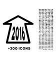 2016 Ahead Arrow Icon vector image vector image