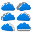 3d cloud renders with outline vector image vector image