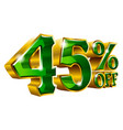 45 off - forty five percent off discount golden