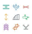 9 arrows icons vector image vector image