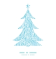 abstract frost swirls texture Christmas tree vector image