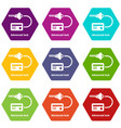 advanced lock icons set 9 vector image
