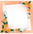 background with flowers and paper vector image