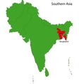 Bangladesh map vector image vector image