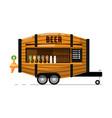 Beer pub outdoor service icon vector image