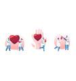 blood donation heart transplantation set doctor vector image vector image