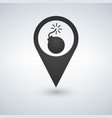 bomb map pointer icon vector image