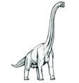 brachiosaurus dinosaur sketch vector image