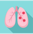bronchitis lungs icon flat style vector image vector image