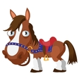 Brown horse cartoon image isolated vector image