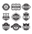 Business badges set in retro design style