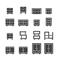cabinet icon set vector image vector image