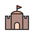 castle with flag vector image