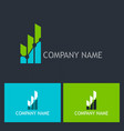 chart progress success company logo vector image