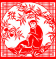 chinese year monkey vector image