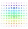 clock gear icon halftone spectral pattern vector image