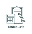 controlling line icon outline vector image vector image