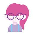cute little girl portrait cartoon children vector image vector image