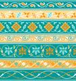 Decorative persian borders vector image vector image