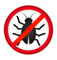 destruction of cockroaches and insects vector image