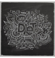 Diet hand lettering On Chalkboard vector image