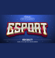 editable text style effect - e-sport text style vector image vector image