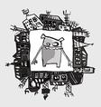 Fantasy funny animal vector image vector image