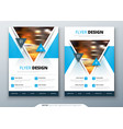 flyer template layout design business flyer vector image