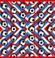 geometric pattern of soccer balls vector image