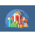 Heap of gift boxes vector image