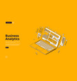 landing page business analytics vector image vector image