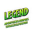 legend 3d comical font design colorful vector image vector image