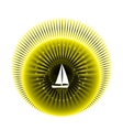 Logo yacht club in yellow and black colors vector image