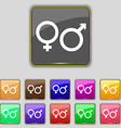 male and female icon sign Set with eleven colored vector image vector image